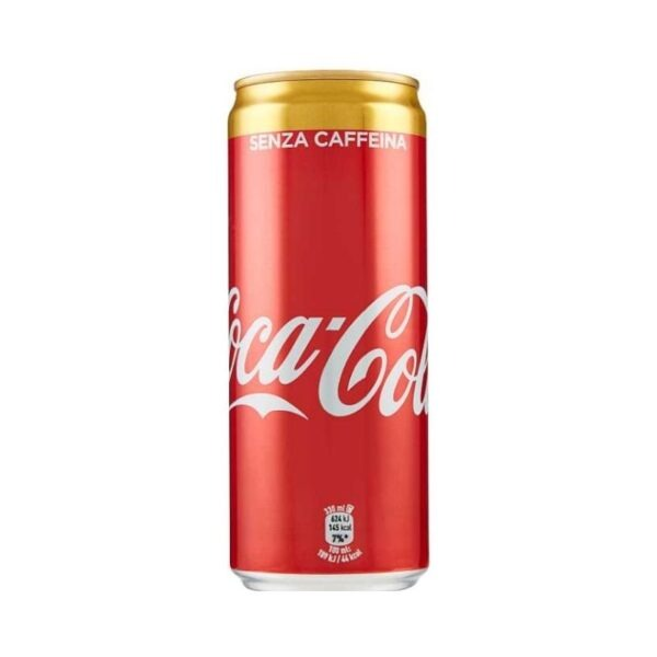 COCA COLA SENZA CAFFEINA LATTINA 33 CL. Parmacash vendita dettaglio e ingrosso
