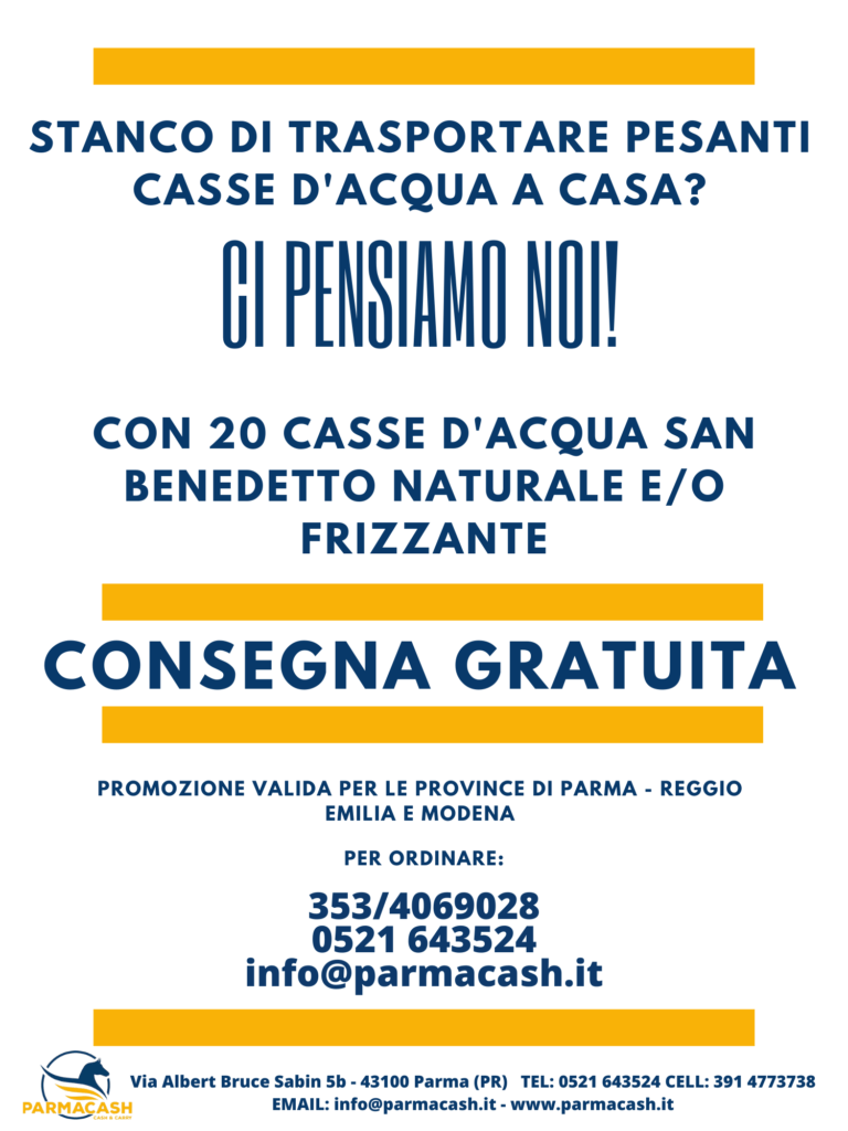 Acqua a domicilio a Parma - Parmacash